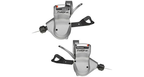 Shimano Tiagra SL-4600/4603 Zestaw klamkomanetek 2x10-biegowe srebrny